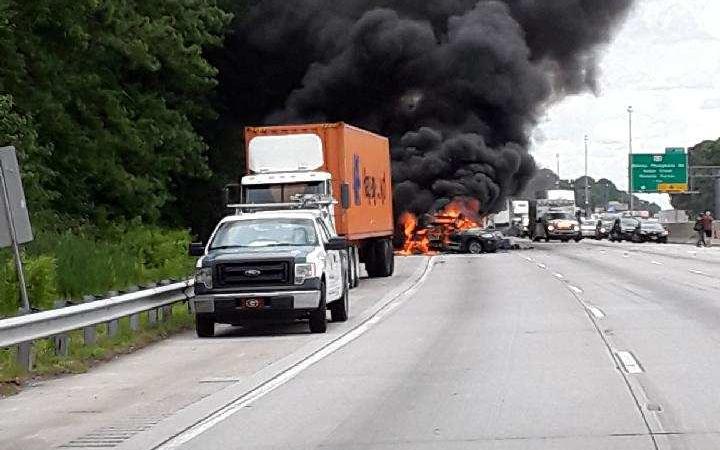 Fatal I-26 EB Tractor Trailer Crash in North Charleston